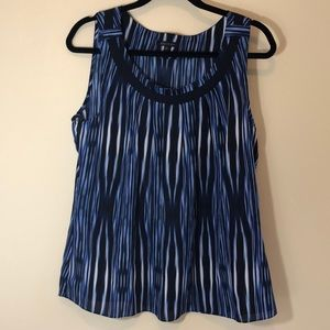 Lk NEW AK ANNE KLEIN silk-like striped top large
